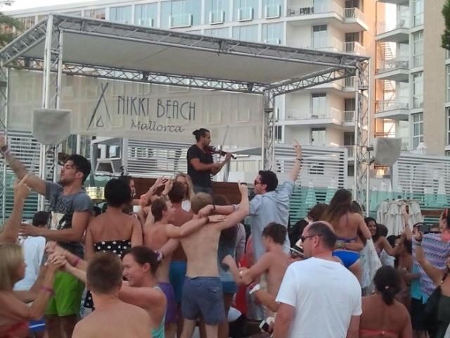 Live-Musik am Nikki Beach